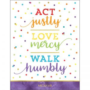 Act Justly Love Mercy Walk Humbly Chart