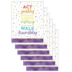 Act Justly Love Mercy Walk Humbly Chart, Pack of 6