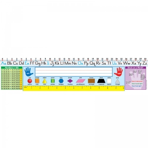 Self-Adhesive Traditional Manuscript Nameplates, Grades 1-2, Pack of 30