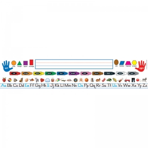 Traditional Manuscript Grades PreK-K Quick Stick Nameplates, 30/pkg