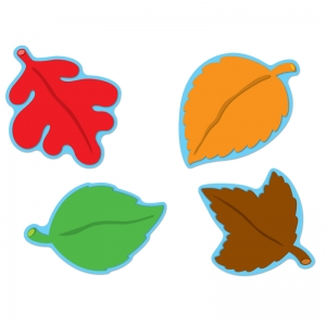 Assorted Colorful Cut-Outs, Leaves