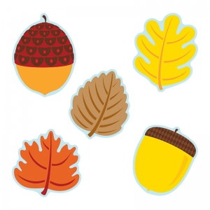 LEAVES & ACORNS CUT OUTS