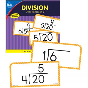 Division All Facts through 12 Flash Cards, 2 Packs