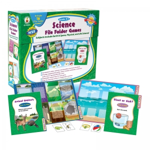 GAMES SCIENCE FILE FOLDER SKILL  BUILDING CENTER ACTIVITIES GR K-1