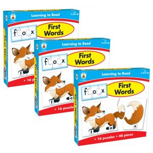 Learning to Read First Words Board Game, Grade PK-1, Pack of 3