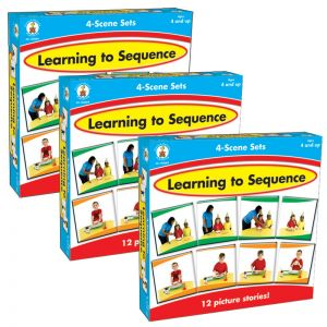 Learning to Sequence 4-Scene Board Game, Grade PK-1, Pack of 3
