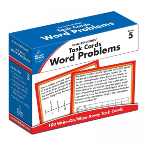 TASK CARDS WORD PROBLEMS GR 5