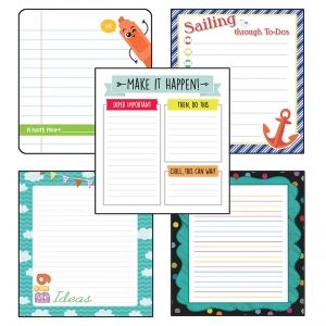 Lined Notepad Set: School Tools, Aim High, SS Discover, Up and Away, Chalkboard