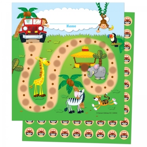 JUNGLE SAFARI MINI INCENTIVE CHARTS