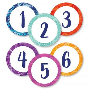 Marble Swirl Numbers Magnetic CutOuts, Pack of 36
