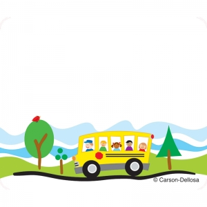 School Bus Name Tags, 40/pkg