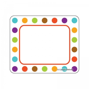 Calypso Name Tags, Bold Polka Dots