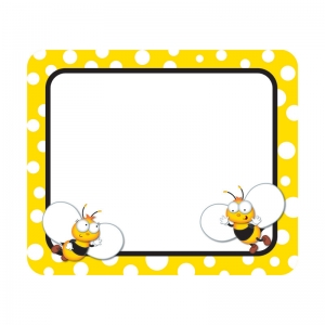 Buzz�Worthy Bees Name Tags, Grades PK-5