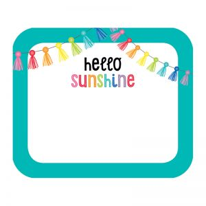 "Hello Sunshine Name Tags, 3"" x 2.5"", Pack of 40"