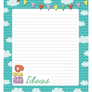 UP AND AWAY SHAPE NOTEPAD GR PK-8