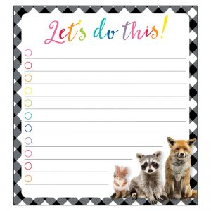 Woodland Whimsy Let's Do This! Notepad, Pack of 6