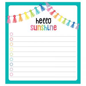 "Hello Sunshine Notepad, 5.75"" x 6.25"", 50 Sheets"