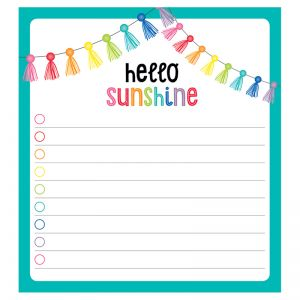 Hello Sunshine Notepad, Pack of 6