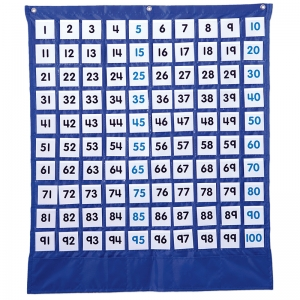 DELUXE HUNDRED BOARD POCKET CHART