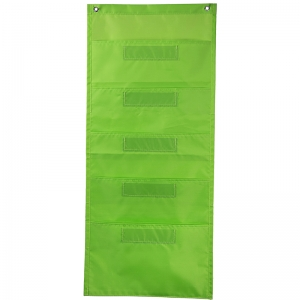 FILE FOLDER STORAGE LIME POCKET  CHART
