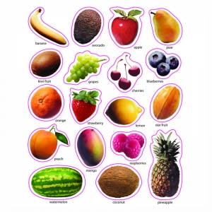 Photographic Shape Stickers, Fruit