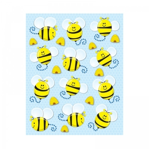 Bees Shape Stickers, 72pk