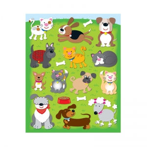 Dogs & Cats Shape Stickers, 78pk