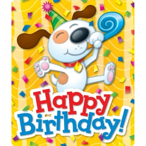 Happy Birthday! Braggin Badges Stickers, 24/pkg