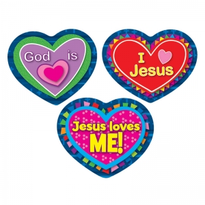 JESUS LOVES ME STICKERS 90 PC