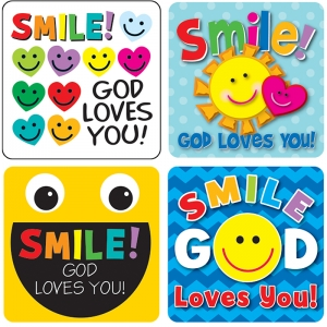 Smile, God Loves You! Stickers