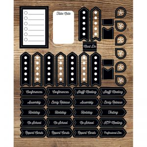 Industrial Chic Planner Accents Sticker Pack, 12 Packs