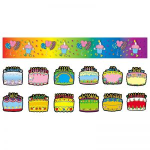 Birthday Cakes Bulletin Board Set, 2 Sets