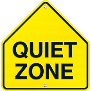 QUIET ZONE TWO SIDED DECORATION