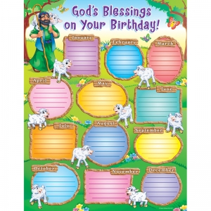 God�s Blessings on Your Birthday! Chart