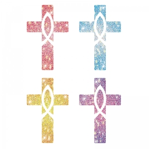 DAZZLE STICKERS CROSSES 120/PK ACID  & LIGNIN FREE