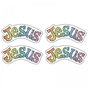 DAZZLE STICKERS JESUS