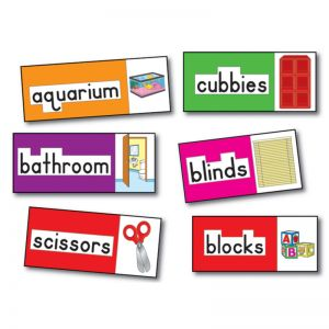 Print-Rich Classroom Labels Bulletin Board Set, 2 Sets