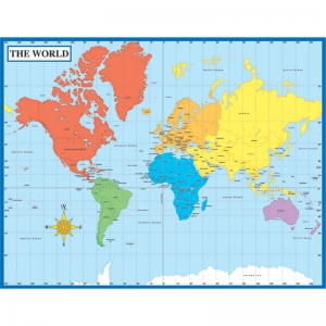 Map of the World Chartlet