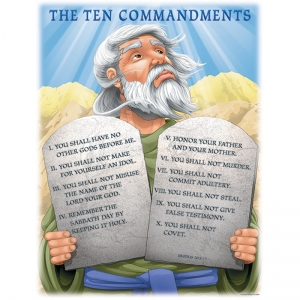 CHARTLET THE TEN COMMANDMENTS  17 X 22
