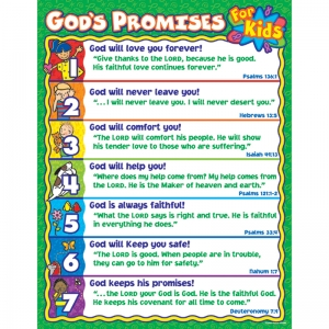 God�s Promises for Kids Chart