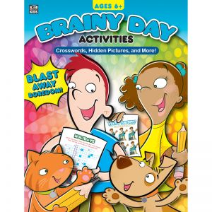 Brainy Day Activities Crosswords, Hidden Pictures, and More, Ages 6 - 8