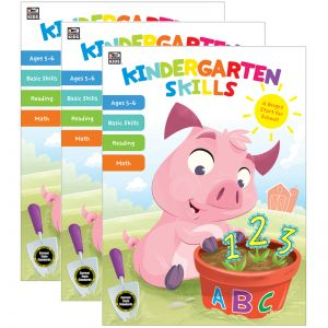 Kindergarten Skills Workbook, Grade K, Pack of 3