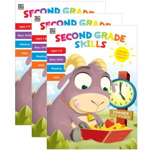 Second Grade Skills Workbook, Grade 2, Pack of 3