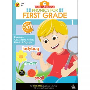Skills for School Phonics for First Grade, Pack of 6