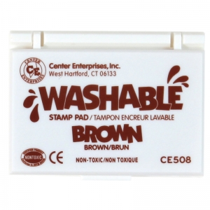 STAMP PAD WASHABLE BROWN