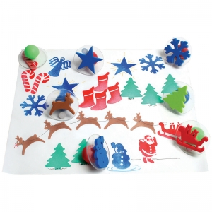 GIANT CHRISTMAS STAMPS SET OF 10