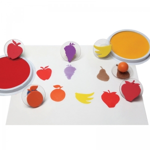 READY2LEARN GIANT FRUIT STAMPS SET  OF 6