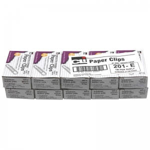 PAPER CLIPS GEM 10 BOXES 100/BOX