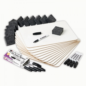 DRY ERASE LAPBOARD CLASS PACK 12PK