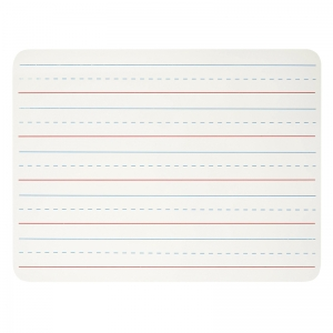 LAP BOARD 9 X 12 LINED WHITE  SURFACE 1 SIDED
